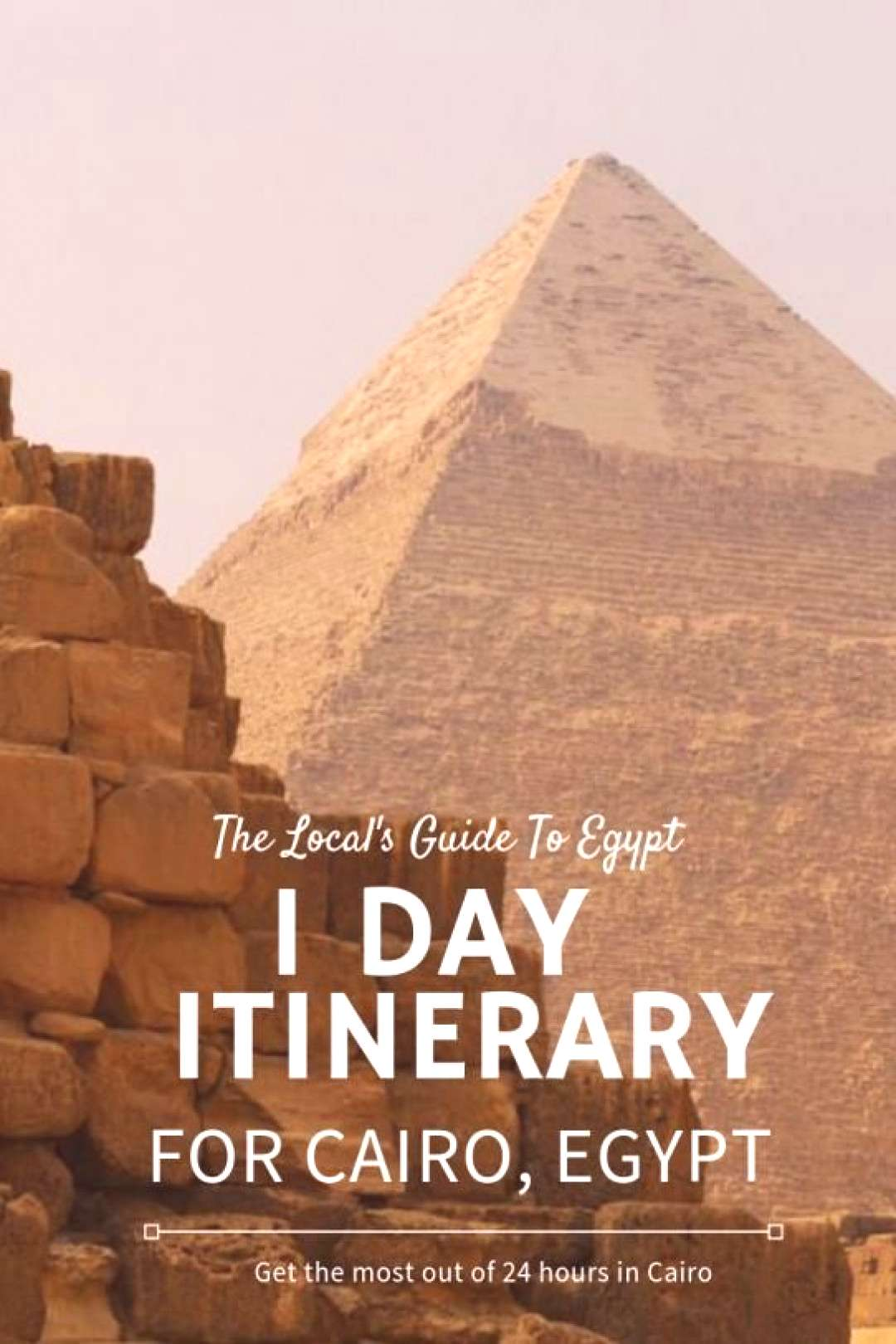 1 day itinerary for Cairo Egypt -- what to do see and eat in 24 hours in Cairo.   Egypt Travel   Ca