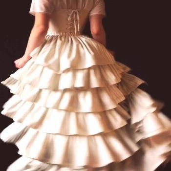19th c. in action- Period Corsets costuming Our bespoke 19th c. petticoat takes a spin, by Period C