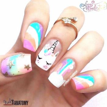 50 Magical Unicorn Nail Designs Will Drive You Crazy For - New Womens Hairstyles -  50 magical unic
