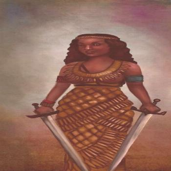Amanirenas  a Kandake warrior queen of kush Ameniras challenged the Romans who took over Egypt Aman