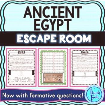 Ancient Egypt ESCAPE ROOM: Pharaohs | King Tut - Think Tank Teacher Ancient Egypt ESCAPE ROOM: Phar