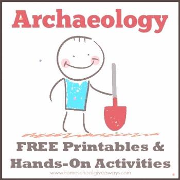 Archaeology FREE Printables and Hands-On Activities – Homeschool Giveaways Archaeology FREE Print