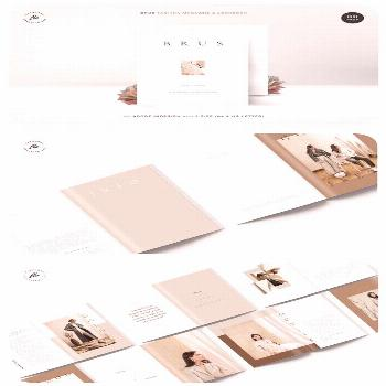 BRUS Fashion Magazine & Lookbook   30 pages   A4 & US letter   adobe indesign   Free font used fash
