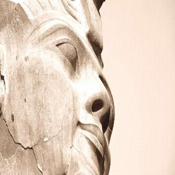 close up black and white ancient history