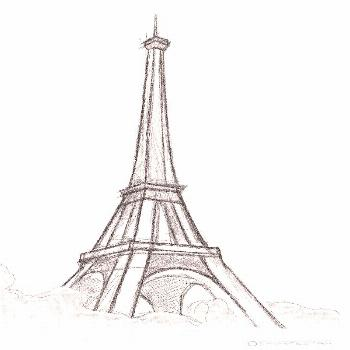 Easy-and-Beautiful-Eiffel Tower drawing and sketches - architecture and art - -