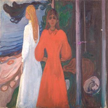 Edvard Munch - Norwegian Painter - Red and White