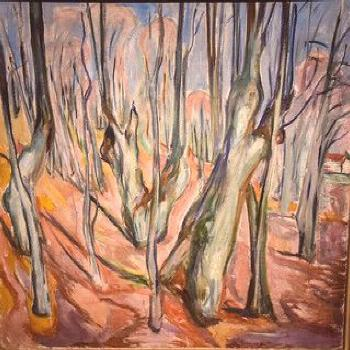 Edvard Munch - Rugged Tree Trunks, 1920 at Munchmuseet Osl… | Flickr