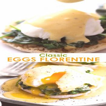 Eggs Florentine A classic Eggs Florentine recipe made with poached eggs on a toasted english muffin