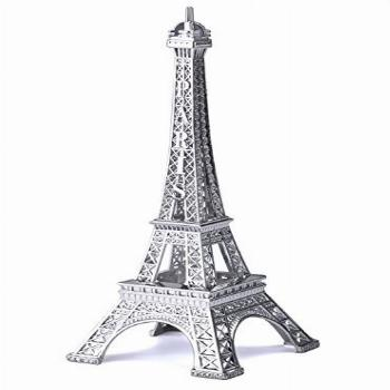 Eiffel Tower Statue Decor, 7 Inch Alloy Metal Collectible