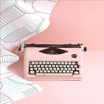Elegant Editorial Product Photography - Delicate Art Direction - Vintage Typewriter A selection of