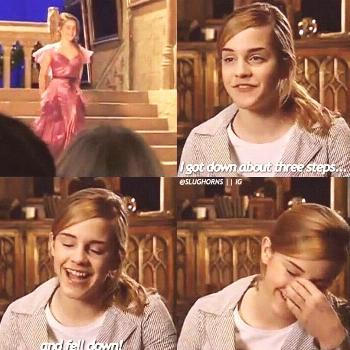 Emma Watson on filming Harry Potter and the Goblet of Fire Yule Ball Scene The ... -  Emma Watson o