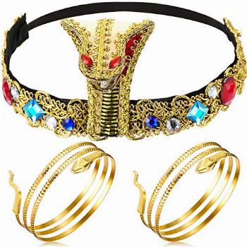 Hicarer 3 Pieces Egyptian Costume Accessories, Egyptian