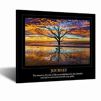 Kreative Arts Canvas Wall Art for Droms Journey Quote