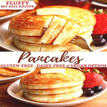 Make fluffy pancakes in just minutes! This is a tried and true, no fail recipe makes perfect gluten