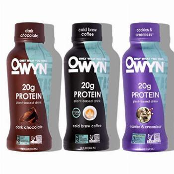 OWYN 100% Plant-Based Protein Shakes | Variety Pack, 12 Fl