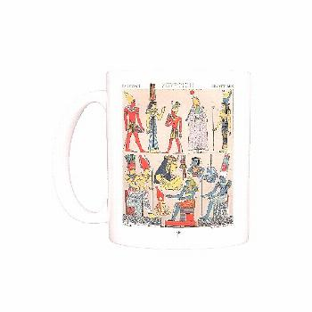 Photo Mug-Ancient egyptian costumes, Divine and Rural Finery-11oz White ceramic mug made in the USA