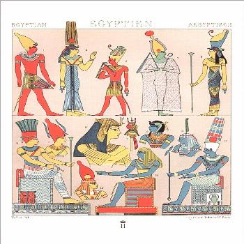 Poster Print-Ancient egyptian costumes, Divine and Rural Finery-16