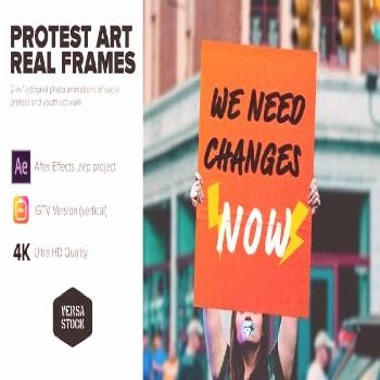 Protest Art Real Frames Protest art motion graphics Each module is 10sec long Works with any type o