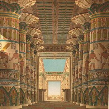 Reconstruction of the Egyptian temple of Karnak. -  Reconstruction of the Egyptian temple of Karnak