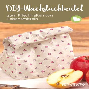 Sew the pouch out of oilcloth yourself - replaces the cling film -  Sew the pouch out of oilcloth y