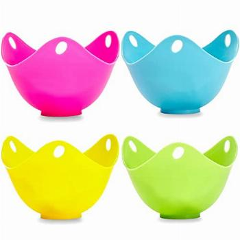 Silicone Egg Poaching Cups Easy 4pcs Release and Cleaning,