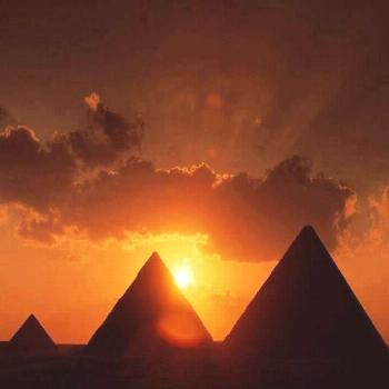 Stunning sunset over the Great Pyramids of Giza plateau. What more!!!! Stunning over the Great Pyra