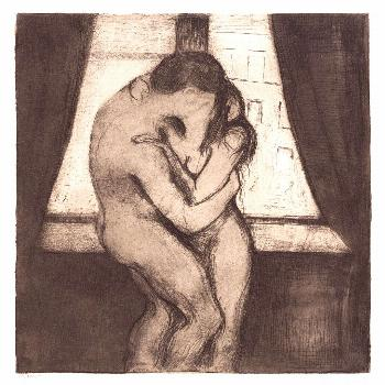 The Kiss (1895) by Edvard Munch. Original from The MET Museum. Digitally enhanced by rawpixel.   fr