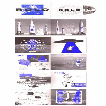 The shade of blue used against the gray makes the blue pop, and the combination of photographs with
