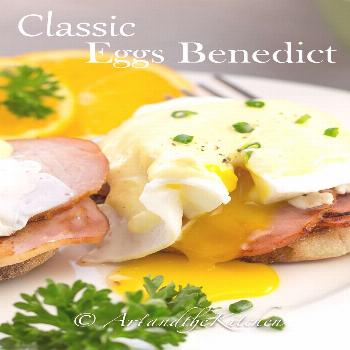 This Classic Eggs Benedict recipe is so easy to make by using a blender to prepare the hollandaise