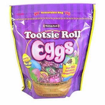 Tootsie Roll Eggs Candy Coated Egg Shaped Individually