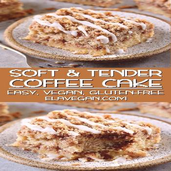Vegan Coffee Cake With Streusel A soft and tender vegan coffee cake with cinnamon streusel topping!