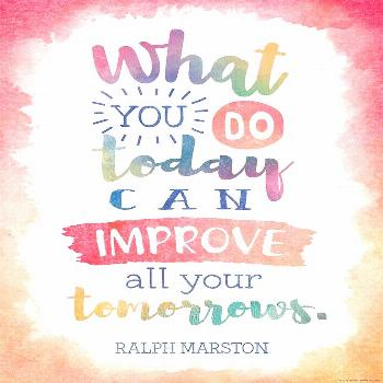 What You Do Today Can Improve All Your Tomorrows Positive Poster Inspire and motivate kids of all a