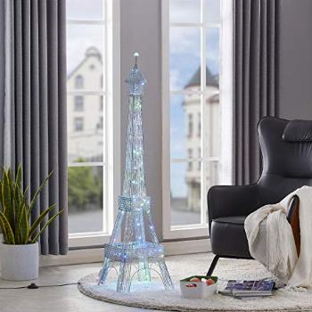 WOXXX Paris Eiffel Tower Floor Lamp with Led Twinkle String