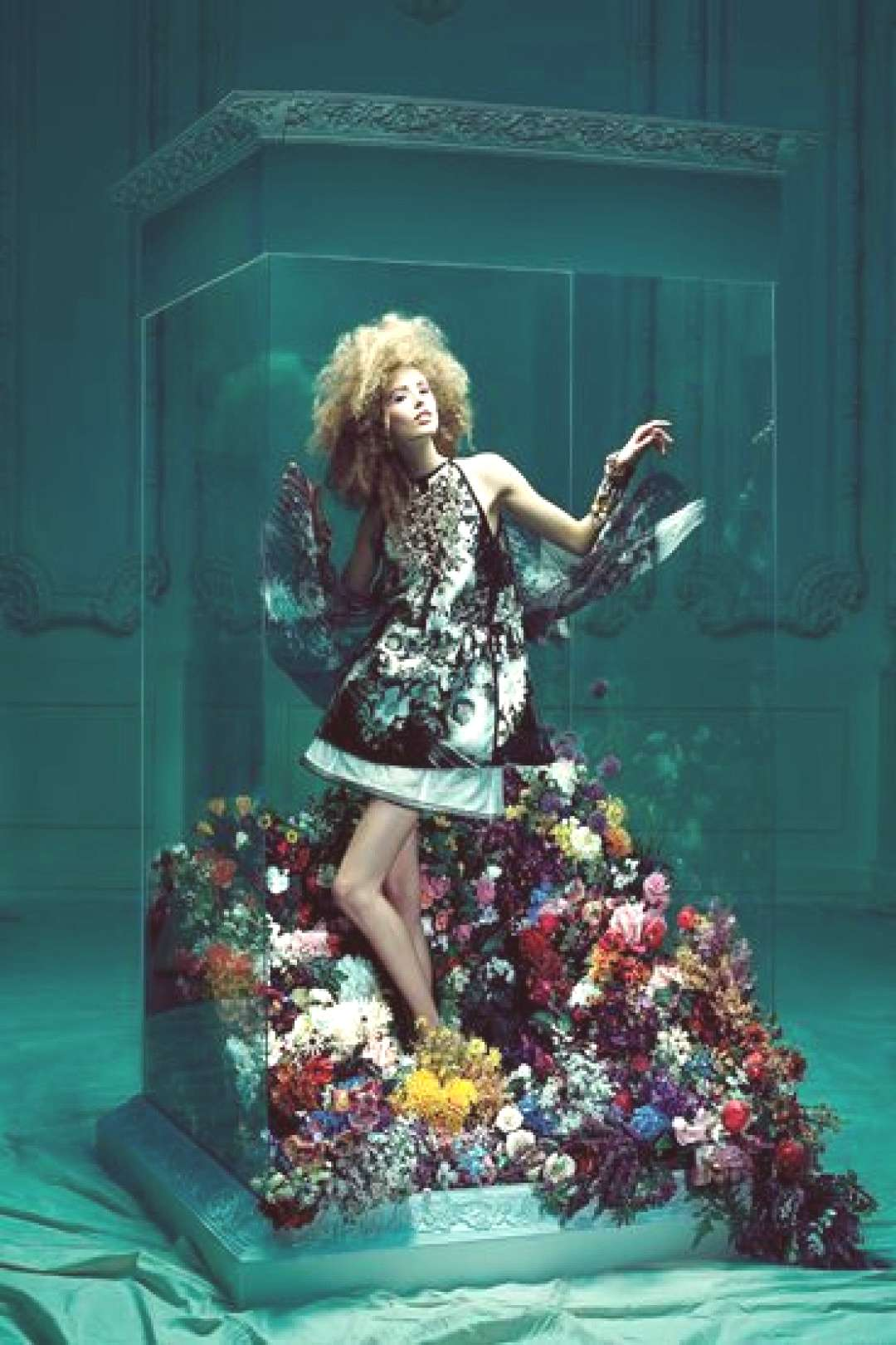 quotA Fancifull Minidress Blossoms Amid a Garden of Petalsquot from the editorial quotFan...#blossoms