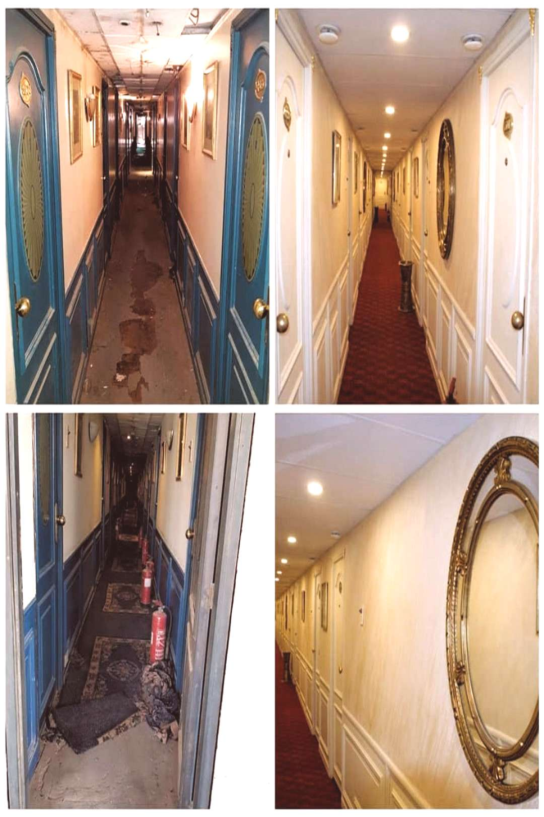 Check out these before-and-after photos of stunning corridors... One of our complete projects, Des