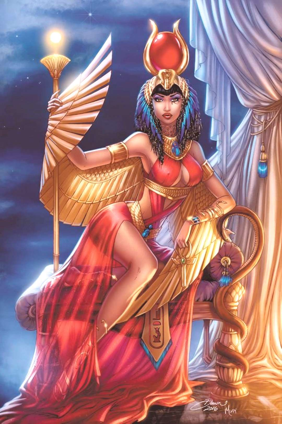 Chronicles the life and first romances of the Egyptian Goddess Isis.