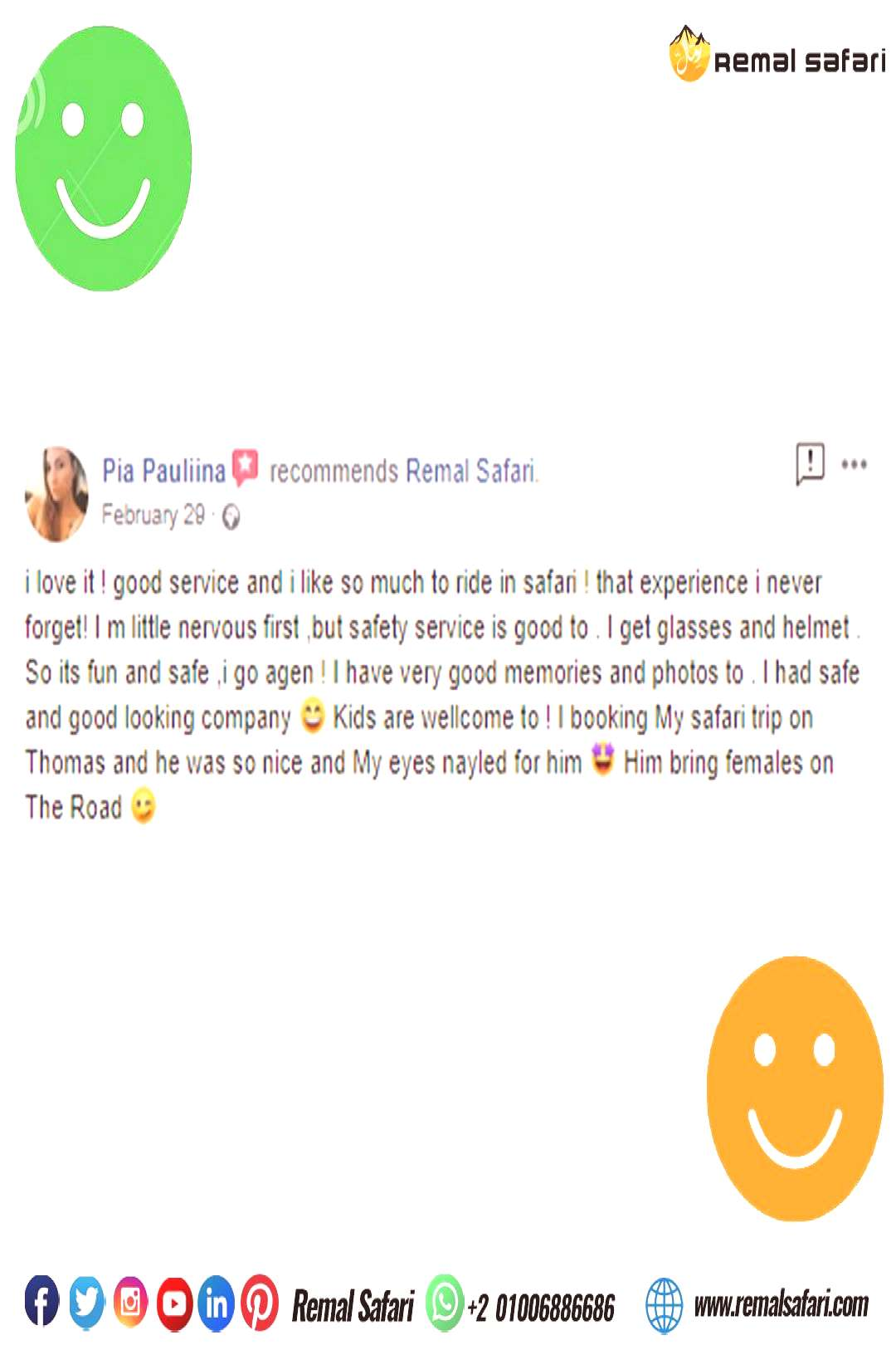 Customers Testimonials One of our Customers Feedback ??