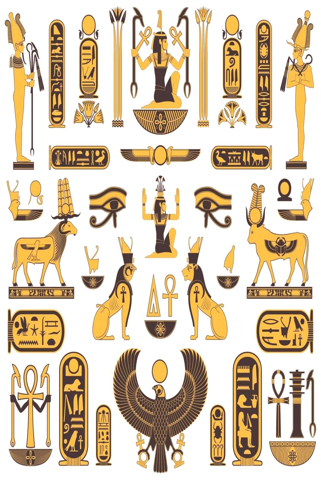 Discover the ancient Egyptian symbols, Egyptian Symbols and Meanings, learn how they made these myt