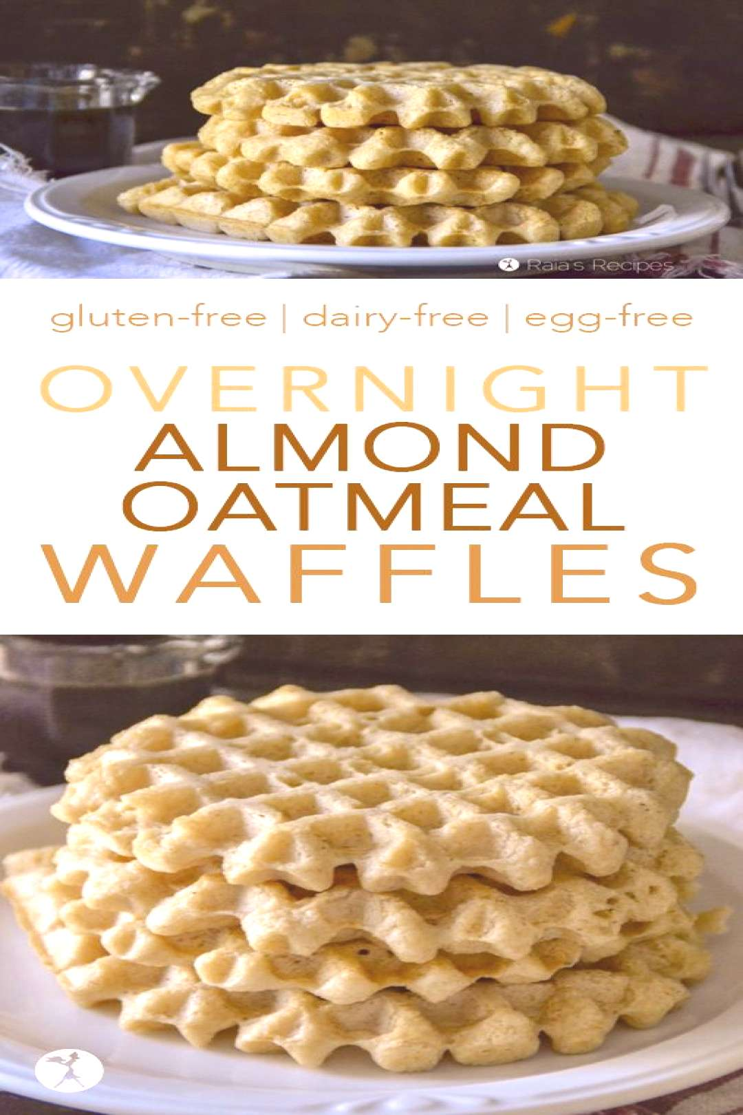 Easy and delicious, these Overnight Almond Oatmeal Waffles are a wonderful way to introduce you to