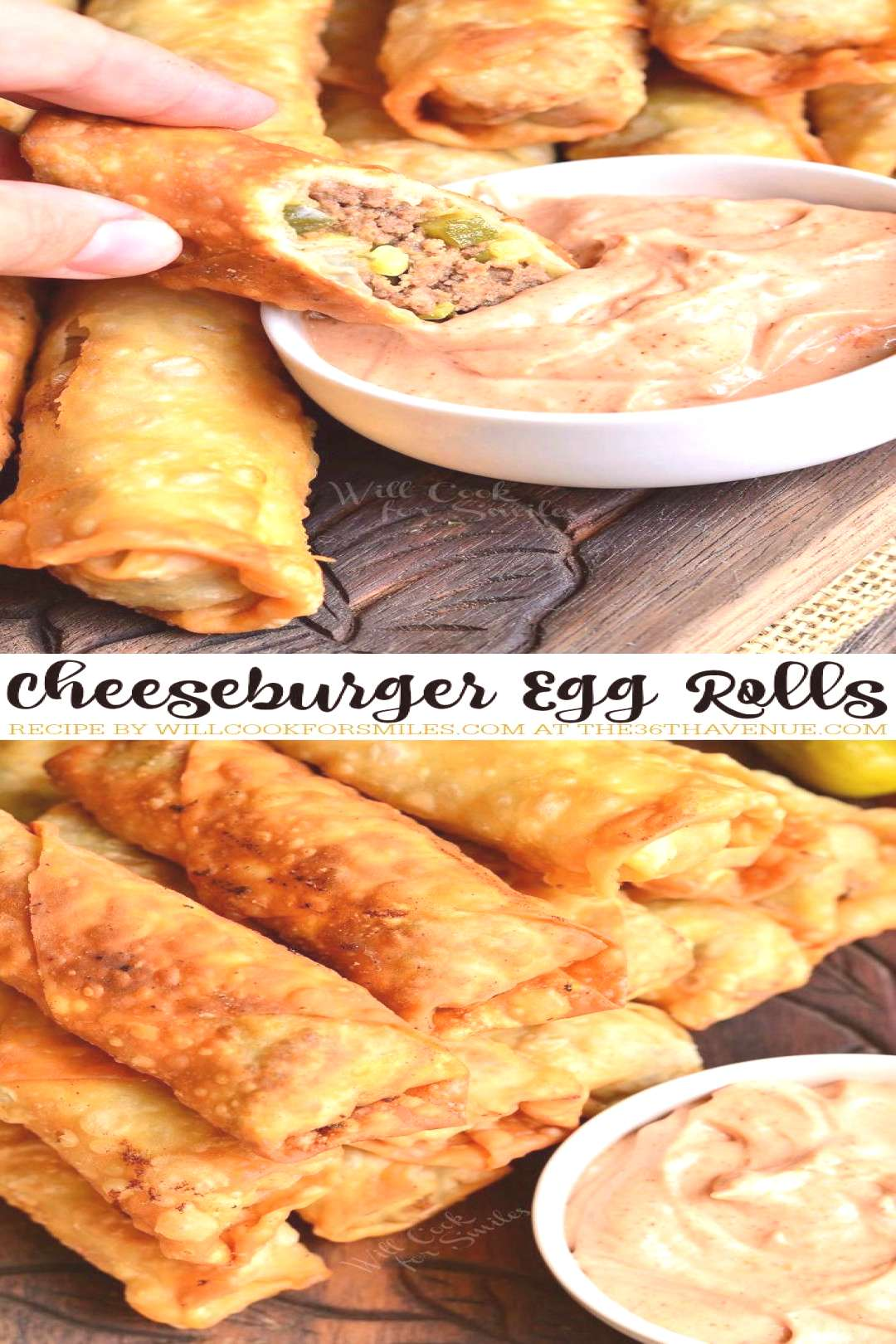 Easy Recipes - Cheeseburgers and Egg Rolls together are an AMAZING combination. These easy egg roll