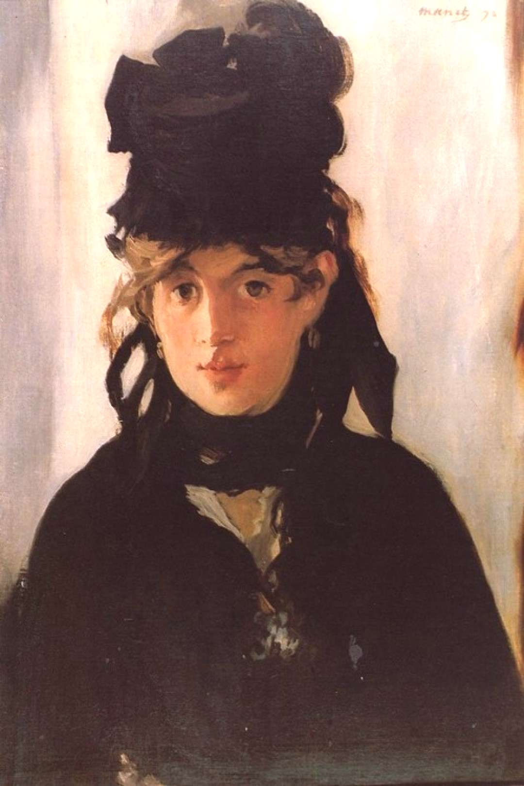 Edouard Manet Berthe Morisot with a bouquet of violets - Handmade Oil Painting Reproduction on Canv