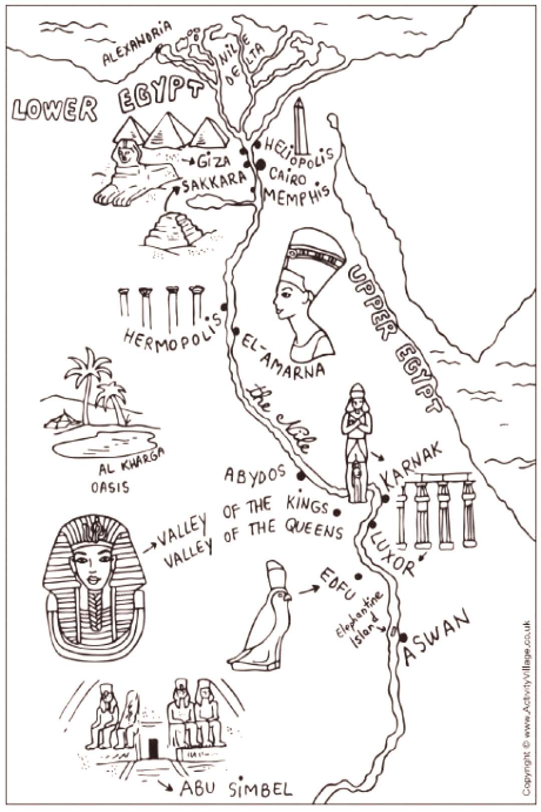 Egypt Dessin Museums - -
