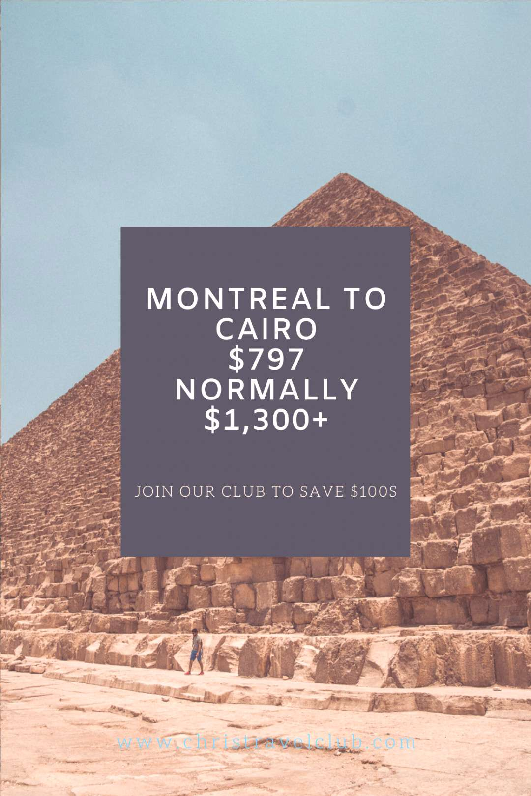 Egyptian Adventure Join our club to save $100s or $1,000s on your next airfare, our newsletter find