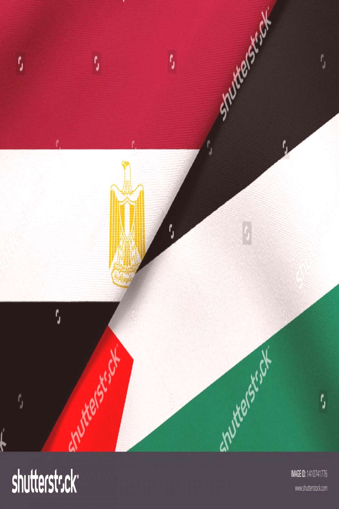 Flag of Egypt and Palestine ,