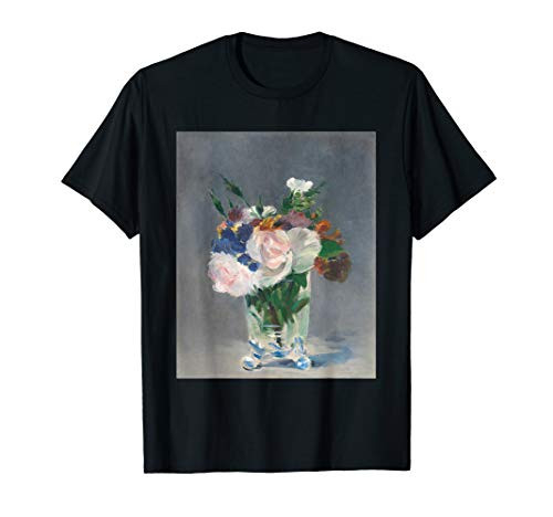 Flowers in a Crystal Vase by Edouard Manet T-Shirt