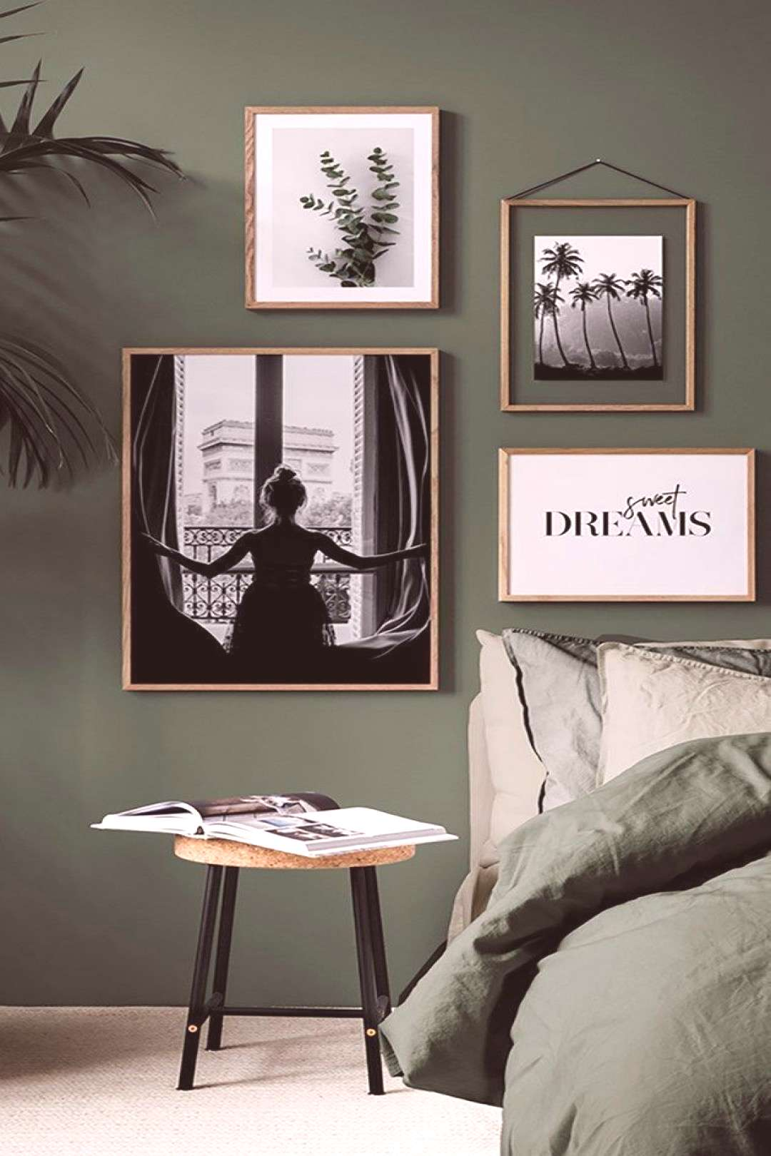 Green in the bedroom is the trend of 2018! On the wall or on your bed is ... - Living room ... - G