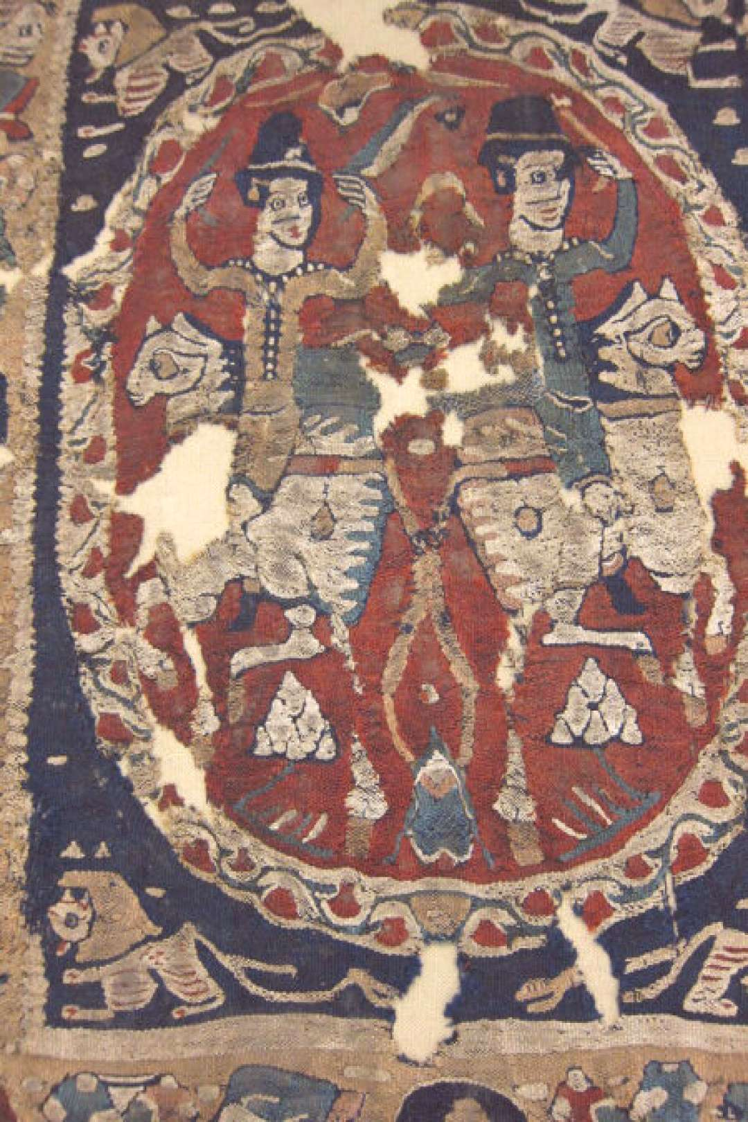 Hanging or curtain (detail), Eastern Roman Empire, Egypt or Turkey, 4th to 5th century. The Textile