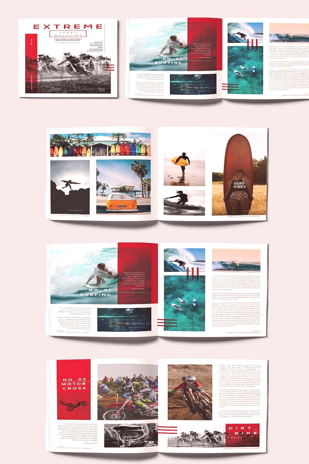 InDesign Sports Magazine Template