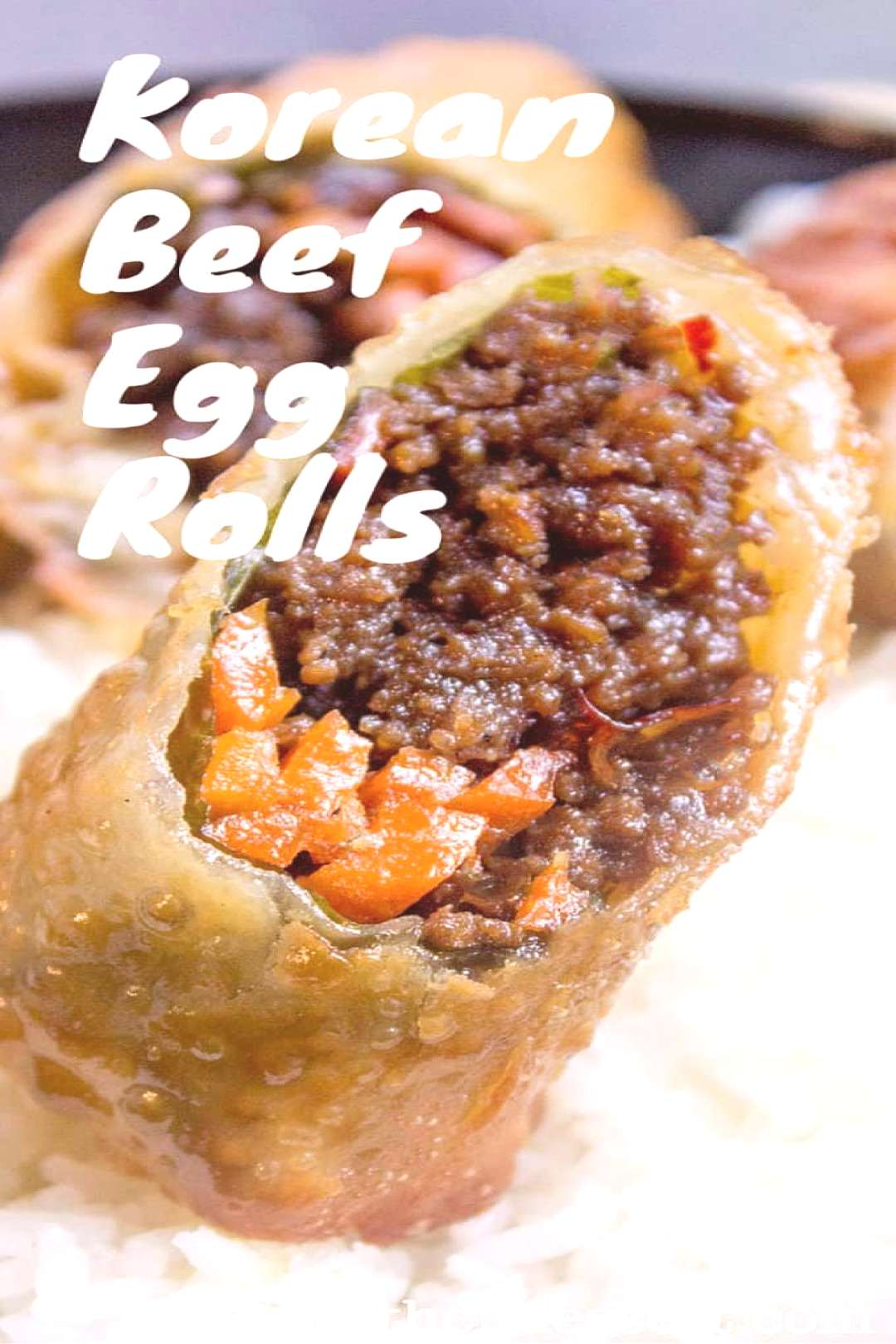 Korean Ground Beef Egg Rolls made with just a few ingredients are a great party food and perfect us