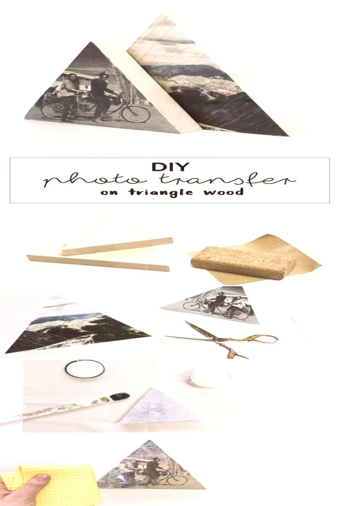 Photo on wood DIY – thats how it works - wood workings bedroom - Photo on wood DIY that's h